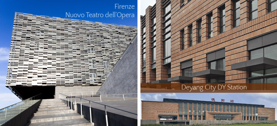 CURTAIN WALLS, new opera house to Florence Deyang city Dy Station