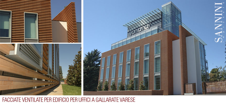 Curtain walls for building for offices to Gallarate Varese